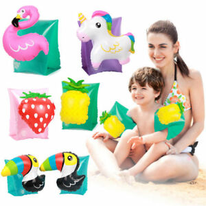 Child Inflatable Swimming Arm Bands Flamingo Unicorn Arm Ring Beach Pool Hot