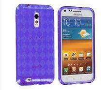 TPU Gel Case for Samsung Galaxy S2 Epic Touch 4G D710 - Argyle Purple