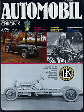 Automobil Motorrad Chronik 4 76 1976 GAS AAA Veritas L&K Astra Laurin & Klement