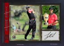 Tiger Woods signed autograph photo print Legend Golf Memorabilia Framed (MDF)