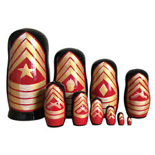 "Nesting dolls American ranks of sergeants. matryoshka Hand-painted 10""/25cm"