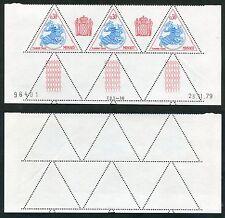 3 Timbres Taxes MONACO neufs TB** YT n° 67 - Sceau Princier - Coin Daté 23/11/79