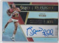 2017-18 Panini Select Spud Webb In Flight Signatures On Card Auto #/199