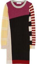 ISABEL MARANT Etoile Color Block Wool KNIT SWEATER DRESS SIZE 36