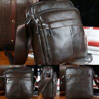 New Men's Genuine Leather Crossbody MIni Satchel Shoulder/Messenger Unisex Bag