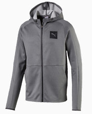 Puma Tec Sports Men's Grey Full Zip Hoodie DryCell Size Large NEW