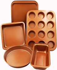 Copper Chef Bakeware Complete Baking Set Assorted Muffin Cookie Loaf Pan New