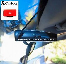 ONE NEW COBRA RADAR DETECTOR Permanent Windshield Mount 9-17 and Recent Models