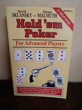 HOLD'EM POKER - Sklansky & Malmuth - For Advanced Players - English - 332 pages
