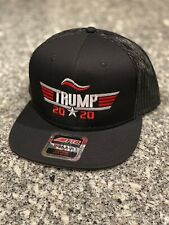 Donald Trump Hat 2020 Top Gun -Snapback Black Trucker Cap.