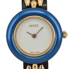 Auth Gucci Change Bezel 11/12.2 White Dial Quartz Women's Watch L#93281