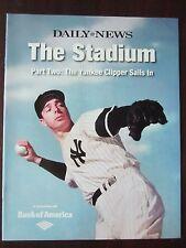 "Joe DiMaggio on the Cover of 2008 NY Daily News Magazine Yankees ""The Stadium"""