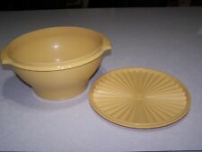 Vintage Tupperware Servalier Bowl Container With Lid Harvest Yellow #836-7