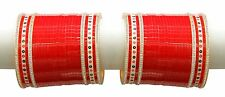 Indian Bridal Choora Bollywood Set Wedding Suhag Women Traditional Red Bangles