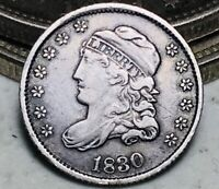 1830 Capped Bust Half Dime 5C High Grade Choice Good Date Silver US Coin CC6582