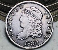 1830 Capped Bust Half Dime 5C High Grade Choice Good Date Silver US Coin CC6582
