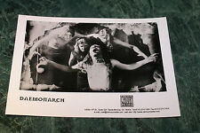 Daemonarch Official 1998 Promo Picture 5X7 Inches Mint Very Rare Htf Oop