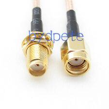 SMA female jack to RP-SMA male plug RF Pigtail Jumper Cable 6inch RG316  15cm