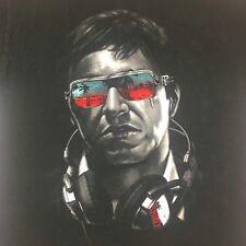 SCARFACE headphones portrait black T-SHIRT Men's Medium M