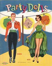 Vntg 1956 Party Dolls Paper Doll Lasr Reprodction~Org Sze UncuT Free S&H Topslr