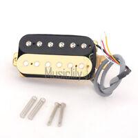 Musiclily Pro Zebra 50mm Alnico 5 Humbucker Neck Pickup For Strat ST LP Guitar