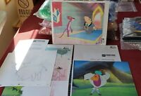 Lot of 4 Pink Panther Production Cels Animation Butler Blue Bull & Turban Guy