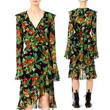 Marc Jacobs NWT Size 4 Multicolor Cherry Print Viscose Grunge Redux Wrap Dress