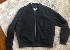 Topman Mens Bomber Jacket Size XL Black Color Zip Closure Lightweight EUC