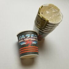 Vtg Lazer Tag Paper Cups (7) Party C.A. Reed Metallic Shine Metal USA 90s