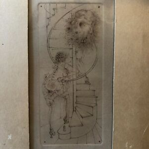 """Hans Bellmer Original Engraving """"Madame Edwarda"""" Erotic Surrealist"""