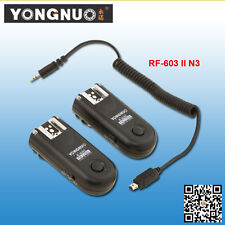 Yongnuo RF-603II N3 Wireless Flash Trigger Kit for Nikon D600 D7000 D5200 D3100