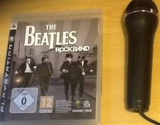 Singstar The Beatles Rock Band PS3 bundle USB Microphone Karaoke Singing Game