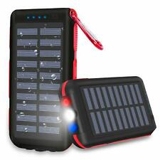 Power Bank Portable Phone Charger Solar Charge 25000mAh Huge Capacity
