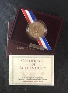 1995 Olympic Proof Coin Atlanta Basketball Clad Half Dollar FC#23