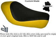 BLACK & YELLOW CUSTOM FITS HARLEY SPORTSTER LOW IRON 883 SOLO SEAT COVER