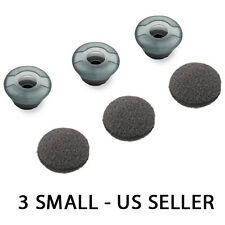 3X SMALL FOR PLANTRONICS VOYAGER PRO HD HEADSET EAR TIP BUD GEL EARTIPS EARGELS