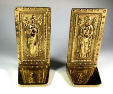 Brass book ends, very heavy, vintage