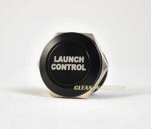 BLACK 19MM LAUNCH CONTROL Momentary activation Push Button anti lag 2 step