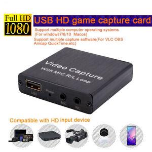 USB-Videoaufnahmekarte Spielaufzeichnung OBS Live-Streaming-Platte HD-Mikrofon4K