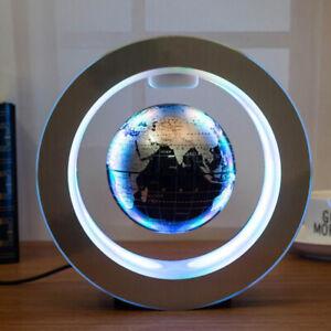 O Shape Magnetic Levitation Floating Earth Globe World Map LED Light Decor Gift