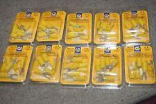 60pcs Yellow PVC Spade Terminal Fork Wire Connector 10 - 12 Ga # 10 Napa Belden