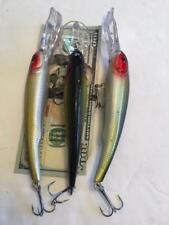 LOT OF 3 Manns Textured Stretch 20+ STYLE Holographic Fishing Lures 1 0Z  6 1/2