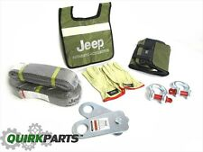 87-17 Jeep Wrangler Winch Accesory Kit With Carry Bag & Gloves OEM MOPAR GENUINE