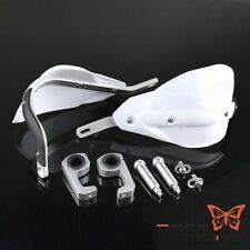 "Motorbike Dirt Bike ATV White 1-1/8"" 7/8"" Handguards Hand Guards Universal"