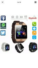 Bluetooth Smart Watch & Phone with Camera For i Phone Samsung Black