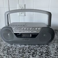 SONY CFD-S05 CD Radio Cassette Player Recorder Portable Boombox AM/FM w/ AUX