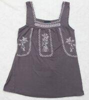 Small Love Culture Gray Rayon Spandex Crewneck Tank Top Tee T-Shirt Sleeveless