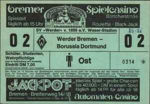 3045 Ticket BL 85/86 SV Werder Bremen - Borussia Dortmund, 26.10.1985