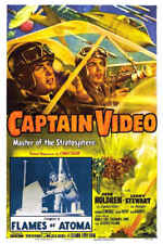 1951 Captain Video Vintage Sci-Fi Movie Poster Print Style A 54x36 9 Mil Paper