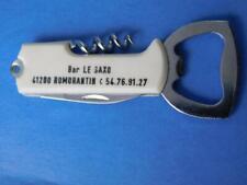 BAR LE SAXO RESTAURANT VINTAGE BEER BOTTLE OPENER CORK SCREW POCKET JACK KNIFE